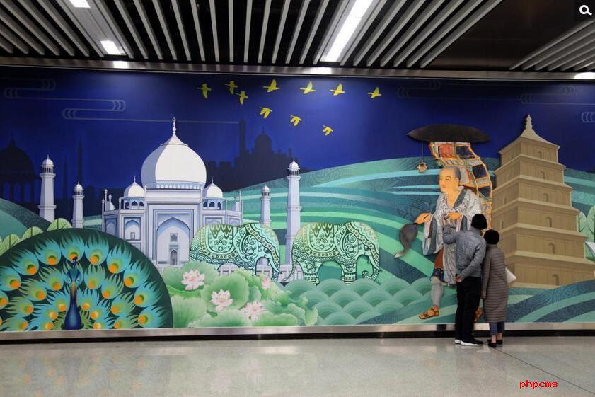 """西安地铁壁画乌龙  网友:我可能看到""""假""""的唐僧取经"""
